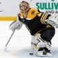 Boston goalie Tuukka Rask carried the Bruins to Game 7 of the Stanley Cup Finals last year after starting 46 times in the regular season. (ASSOCIATED PRESS)