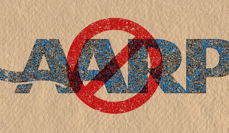 """Say """"NO"""" to AARP Illustration by Greg Groesch/The Washington Times"""