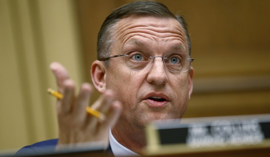 In this May 21, 2019, file photo, Rep. Doug Collins, R-Ga., ranking member of the House Judiciary Committee, speaks during a hearing without former White House Counsel Don McGahn on Capitol Hill in Washington. Collins wants to be appointed to Sen. Johnny Isakson's Senate seat when he steps down in December. (AP Photo/Patrick Semansky, File)