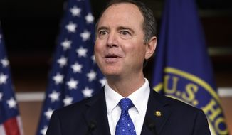 House Intelligence Committee Chairman Adam Schiff, D-Calif., speaks during a news conference on Capitol Hill in Washington, Tuesday, Dec. 3, 2019. (AP Photo/Susan Walsh)