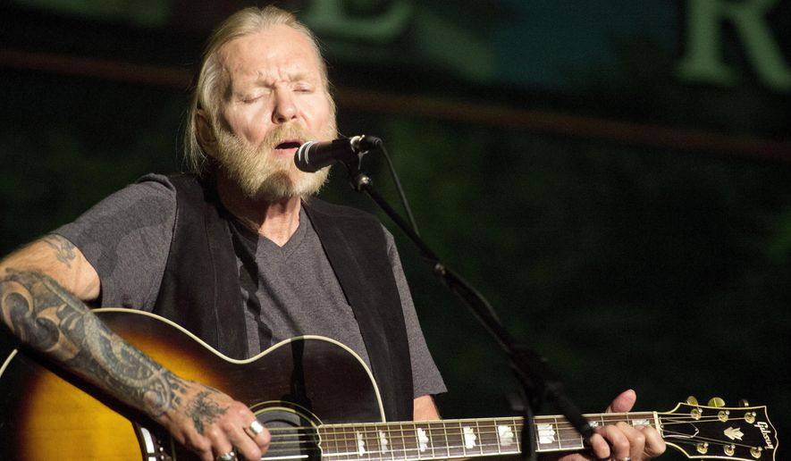 In this May 16, 2016, file photo, Rock and Roll Hall of Famer Gregg Allman performs during Mercer University's Commencement at Hawkins Arena in Macon, Ga. Capricorn Sound Studios, the Macon, Ga., music studio that fused blues, country and other sounds into Southern rock is being reborn. The historic Studio A is reopening this month, after years of work by Mercer University and other supporters to restore and equip it with state-of-the-art technology. The studio helped propel the Allman Brothers Band and other groups to stardom in the 1970s. (Jason Vorhees/The Macon Telegraph via AP, File)