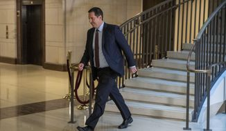 Rep. Devin Nunes, R-Calif., walks to a secure area of the Capitol in Washington, Tuesday, Dec. 3, 2019. The House released a sweeping impeachment report outlining evidence of what it calls President Donald Trump's wrongdoing toward Ukraine, findings that will serve as the foundation for debate over whether the 45th president should be removed from office. (AP Photo/Patrick Semansky)