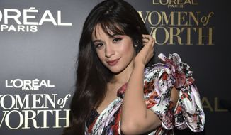 Singer Camila Cabello attends the 14th annual L'Oreal Paris Women of Worth Gala at the Pierre Hotel on Wednesday, Dec. 4, 2019, in New York. (Photo by Evan Agostini/Invision/AP)