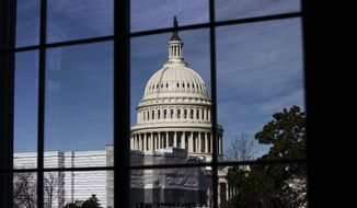The Capitol in Washington is seen in this photo taken Tuesday, Dec. 3, 2019, as the House Judiciary Committee considers whether there are constitutional grounds for the impeachment of President Donald Trump. A report issued by the House Intelligence Committee concluded that Trump abused the power of his office by pressuring Ukraine to investigate his political rivals in exchange for military aid. (AP Photo/J. Scott Applewhite)