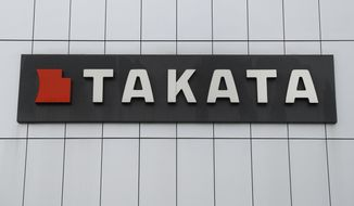 This June 25, 2017, file photo shows TK Holdings Inc. headquarters in Auburn Hills, Mich. Bankrupt air bag maker Takata is recalling about 1.4 million driver's side inflators in the U.S. because they could explode and hurl shrapnel. They also may not inflate properly to protect people in a crash.  (AP Photo/Paul Sancya, File)
