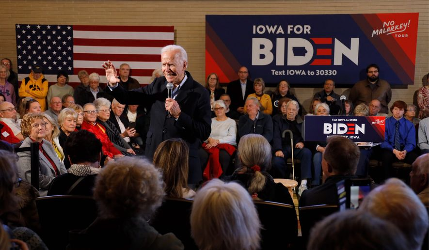 Democratic presidential candidate former Vice President Joe Biden has proposed a minimum tax on corporations that might have evaded paying federal income taxes. He also wants to increase the corporate income tax from 21% to 28%. (Associated Press)