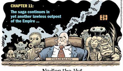 Nadler the Hut (Illustration by Alexander Hunter for The Washington Times)