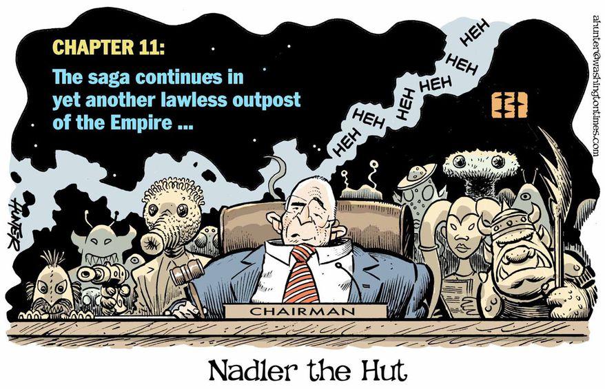 Illustration by Alexander Hunter for The Washington Times (published December 5, 2019)