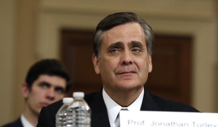 George Washington University Law School professor Jonathan Turley testifies during a hearing before the House Judiciary Committee on the constitutional grounds for the impeachment of President Donald Trump, Wednesday, Dec. 4, 2019, on Capitol Hill in Washington. (AP Photo/Jacquelyn Martin) ** FILE **