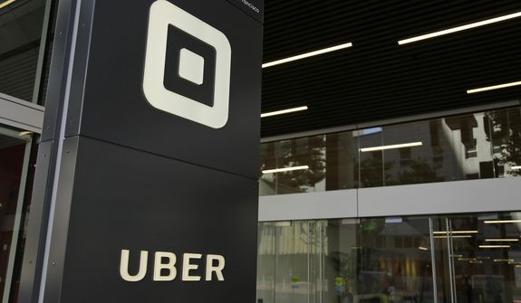 This Wednesday, June 21, 2017, file photo shows the building that houses the headquarters of Uber, in San Francisco. Uber acknowledged more than 3,000 sexual assaults occurred during U.S. Uber rides in 2018, the company said in a long-awaited safety report. (AP Photo/Eric Risberg, File)