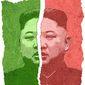Kim Split Illustration by Greg Groesch/The Washington Times