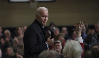Democratic presidential candidate former Vice President Joe Biden speaks at a campaign event in Nashua, N.H. Sunday, Dec. 8, 2019. (AP Photo/ Cheryl Senter)