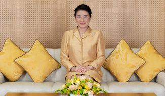 In this Dec. 3, 2019, photo released by Imperial Household Agency of Japan, Japan's Empress Masako poses for a photo at her residence in Tokyo. Masako celebrated 56th birthday on Monday, Dec. 9, 2019. (Imperial Household Agency of Japan via AP)