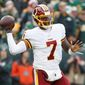 """I couldn't move too much,"" Redskins quarterback Dwayne Haskins said of playing in Sunday's loss with the ankle injury. ""There were times it felt like I could've broken out of the pocket and made a guy miss. But I just kind of sat there."" (ASSOCIATED PRESS)"