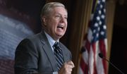 Senate Judiciary Committee Chairman Lindsey Graham, R-S.C., denounces a report by the Justice Department's internal watchdog that concluded the FBI was justified in opening its investigation into ties between the Trump presidential campaign and Russia and did not act with political bias, on Capitol Hill in Washington, Monday, Dec. 9, 2019. (AP Photo/J. Scott Applewhite)