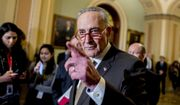 Senate Minority Leader Sen. Chuck Schumer of N.Y., calls on a reporter during a news conference, Tuesday, Dec. 10, 2019, on Capitol Hill in Washington. (AP Photo/Andrew Harnik)