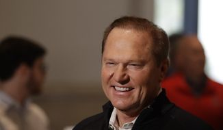 Sports agent Scott Boras speaks during the Major League Baseball winter meetings Tuesday, Dec. 10, 2019, in San Diego. (AP Photo/Gregory Bull)