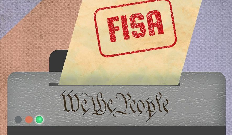 Unconstitutional FISA Illustration by Greg Groesch/The Washington Times