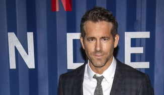 "Ryan Reynolds attends the premiere of Netflix's ""6 Underground"" at The Shed at Hudson Yards on Tuesday, Dec. 10, 2019, in New York. (Photo by Charles Sykes/Invision/AP)  ** FILE **"