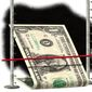 Illustration on lowering interest rates by Alexander Hunter/The Washington Times