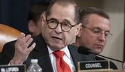 House Judiciary Committee Chairman Jerrold Nadler, D-N.Y., left, and Rep. Doug Collins, R-Ga., the ranking member, work into the evening on the markup of articles of impeachment against President Donald Trump, Thursday, Dec. 12, 2019, on Capitol Hill in Washington. (AP Photo/J. Scott Applewhite)