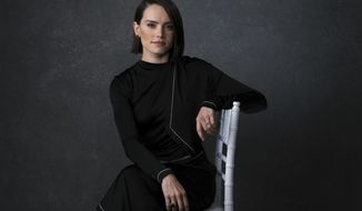 """Daisy Ridley poses for a portrait to promote the film """"Star Wars: The Rise of Skywalker"""" on Tuesday. Dec. 3, 2019, in Pasadena, Calif. With """"Star Wars: The Rise of Skywalker"""" opening in theaters Dec. 20, 2019,  Abrams expects more backlash. Especially since the new film — which he calls the """"aftermath of Luke Skywalker and his sister Princess Leia"""" — is the final installment of a nine-part movie series that began 42 years ago (AP Photo/Chris Pizzello)"""