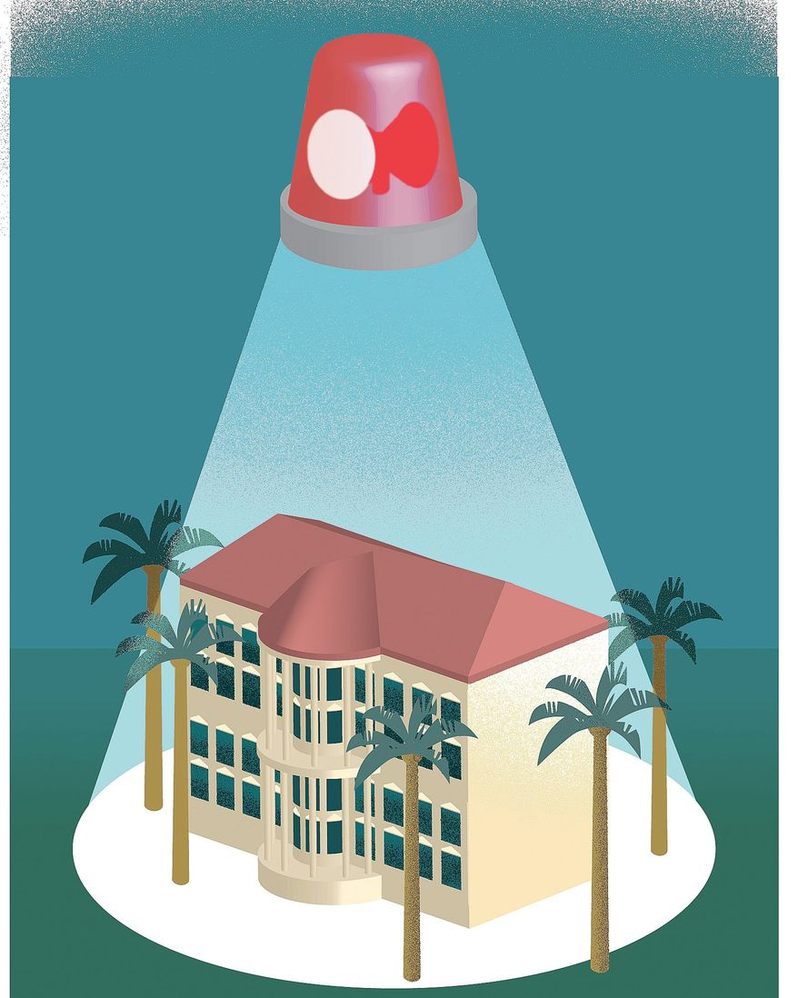 Mar-a-Lago Security Illustration by Linas Garsys/The Washington Times
