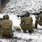U.S. Soldiers assigned to 1st Battalion, 10th Special Forces Group (Airborne)  practice a variety of shooting techniques with their M4A1 rifles at Panzer Range Complex in Boebligen, Germany, Jan. 23, 2015.(U.S. Army photo by Visual Information Specialist Adam Sanders/Released)