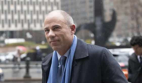 California attorney Michael Avenatti arrives at federal court to enter a plea to an indictment charging him with trying to extort up to $25 million from Nike, Tuesday, Dec. 17, 2019 in New York. (AP Photo/Mark Lennihan) ** FILE **