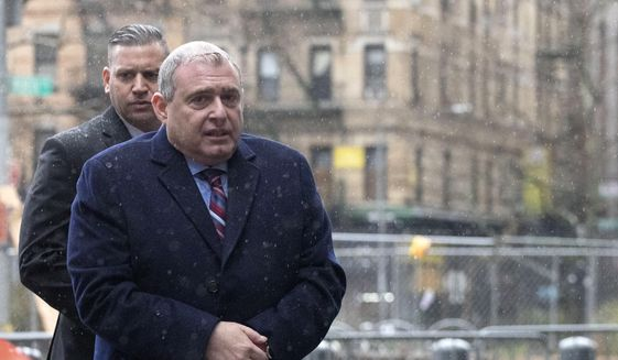 Lev Parnas, a Rudy Giuliani associate with ties to Ukraine, arrives for a bail hearing in federal court, Tuesday, Dec. 17, 2019 in New York. (AP Photo/Mark Lennihan) ** FILE **