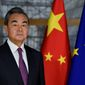 "China's Foreign Minister Wang Yi stepped up Beijing's war of words Friday. At a meeting, he labeled the U.S. the ""troublemaker of the world"" and falsely accused the U.S. of having a hand in the Hong Kong protests. (Associated Press)"