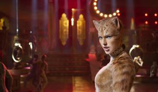 """This image released by Universal Pictures shows Taylor Swift as Bombalurina in a scene from """"Cats."""" (Universal Pictures via AP)"""