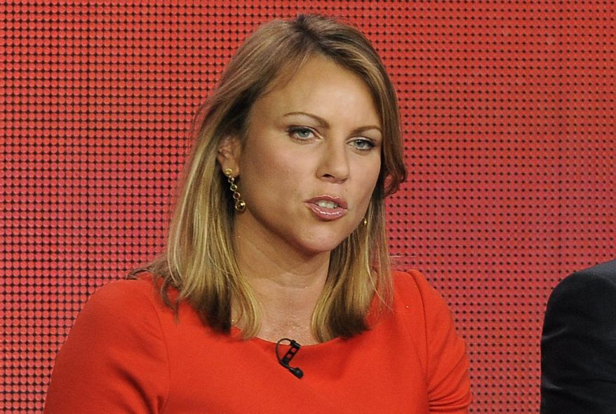 """In this Jan. 12, 2013 file photo, """"60 Minutes"""" reporter Lara Logan takes part in a panel discussion at the Showtime Winter TCA Tour in Pasadena, Calif. Logan, whose 2013 report about the Benghazi attacks was retracted by CBS News over inaccuracies, is suing New York magazine over an article about the fallout that she claims tarnished her career. She is seeking $25 million in the lawsuit filed last week. (Photo by Chris Pizzello/Invision/AP, File)"""