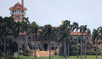 President Donald Trump's Mar-a-Lago estate is shown in a Wednesday, July 10, 2019, file photo, in Palm Beach, Fla. (AP Photo/Wilfredo Lee, File)