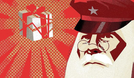 Santa Claus illustration by Linas Garsys