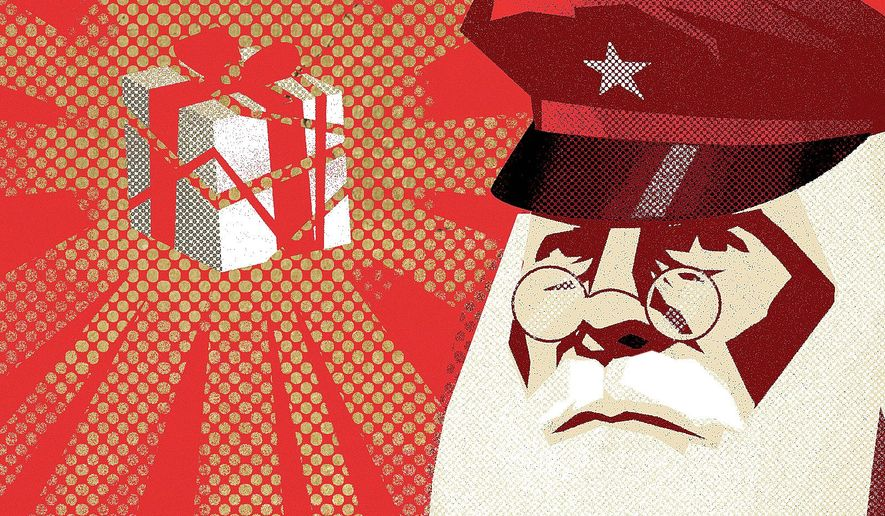 Santa Claus illustration by Linas Garsys