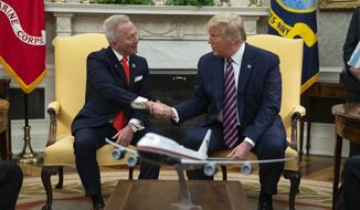 President Donald Trump meets with Rep. Jeff Van Drew, D-N.J., who is planning to switch his party affiliation, in the Oval Office of the White House, Thursday, Dec. 19, 2019, in Washington. (AP Photo/ Evan Vucci) ** FILE **