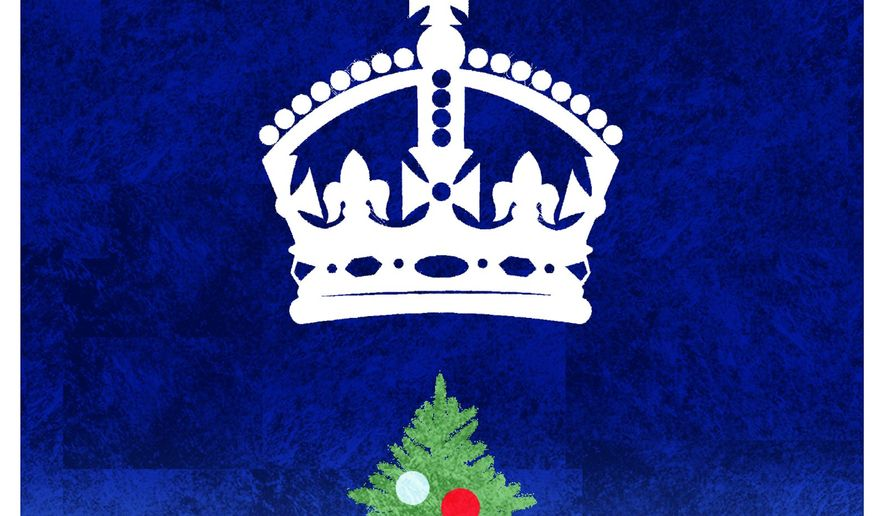 Illustration on Queen Elizabeth's Christmas Message by Alexander Hunter/The Washington Times