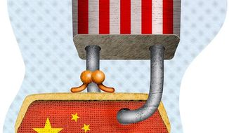 Economic Sanctions on China Illustration by Greg Groesch/The Washington Times