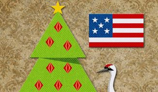 AWhooping Merry Christmas Illustration by Greg Groesch/The Washington Times