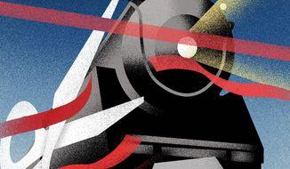 Illustration on coming deregulation by Linas Garsys/The Washington Times