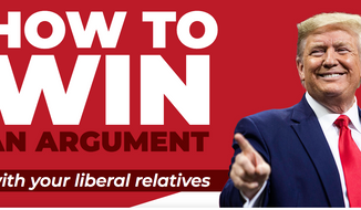 President Trump's campaign has launched a website to help Trump fans win arguments with liberal relatives over the holidays. (Image courtesy of DonaldJTrump.com)