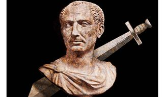 Illustration on lessons from Julius Caesar by Alexander Hunter/The Washington Times