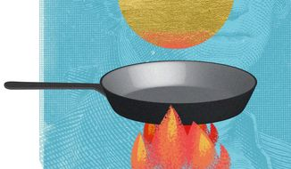Illustration on state pensions by Linas Garsys/The Washington Times