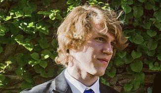This undated file photo provided by Matthew Westmoreland shows Riley Howell. The North Carolina college student hailed by police as a hero for preventing more injuries and deaths after a gunman opened fire in a classroom in April 2019 has been immortalized as a Jedi by the production company for the Star Wars franchise. (Matthew Westmoreland via AP, File)