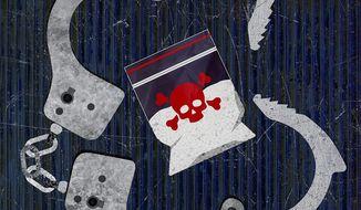 Terror Cartels Illustration by Greg Groesch/The Washington Times