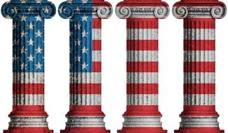 Four Pillars Illustration by Greg Groesch/The Washington Times