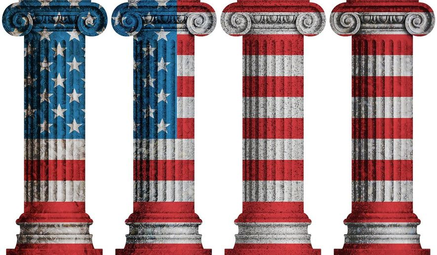 Four Pillars Illustration by Greg Groesch/The Washington Times