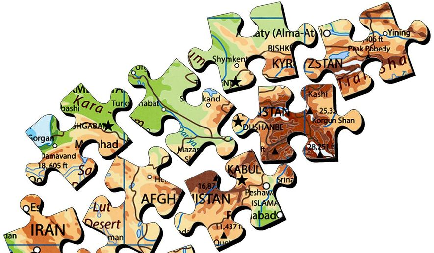 Illustration on the Afghanistan puzzle by Greg Groesch/The Washington Times