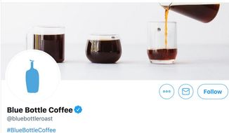 San Francisco companies are banding together in 2020 to encourage customers to abandon disposable coffee cups. (Image: Twitter, Blue Bottle, promotional header)